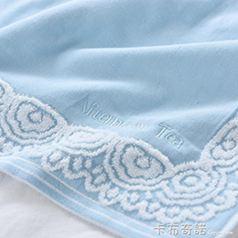 毛毛雨枕巾純棉一對高檔歐式紗布枕頭布巾成人情侶全棉吸汗學生 卡布奇諾SUPER 全館特惠9折