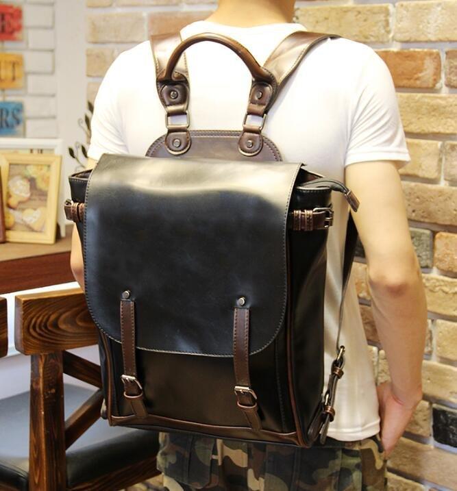 FINDSENSE Z1 韓國 時尚 潮 男 皮質 校園 學生包 書包 後背包 雙肩包 電腦包