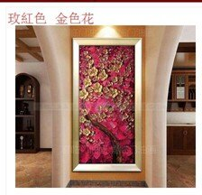 手繪油畫客廳裝飾畫現代簡約壁畫無框畫歐式有框畫玄關發財樹金  伊卡萊生活館  聖誕節禮物
