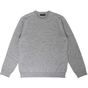 [PRODIGAL(プロディガル)] カシミヤ 100% クルーネック セーター メンズ (Mサイズ,ライトグレー)