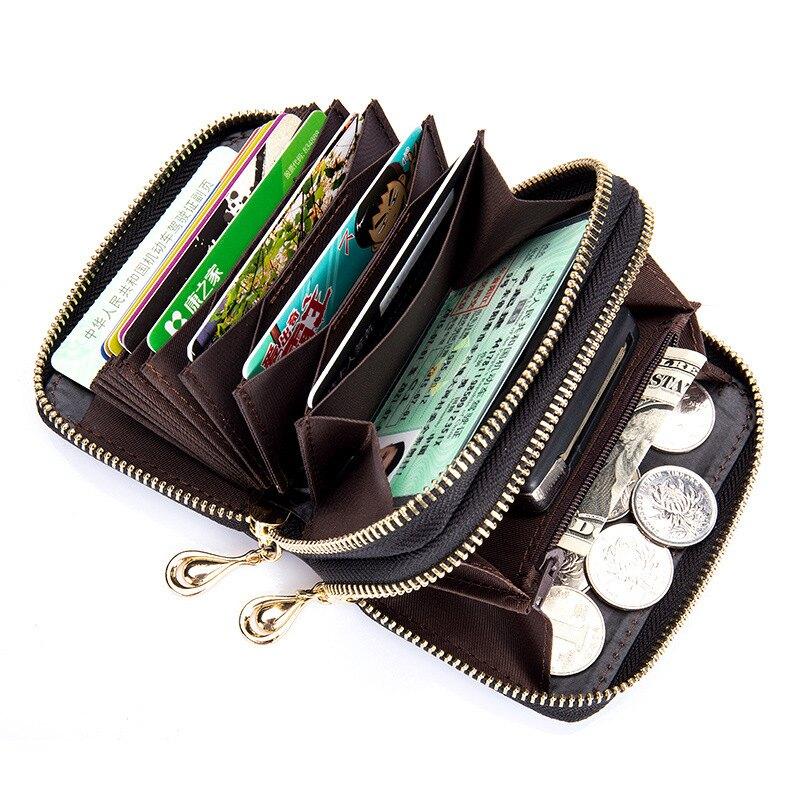 【喜番屋】真皮羊皮編織12卡位雙層卡片包卡片夾卡片套卡包卡夾皮夾零錢包硬幣包【KN95】