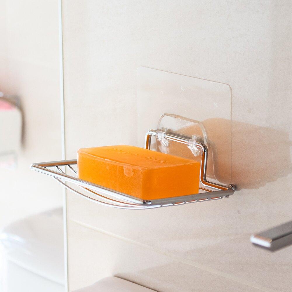 收納架 5件組 肥皂架 牙刷架 衛生紙架 拖把夾 無痕貼 MIT 衛浴收納【MM-IBS-603-5】