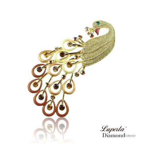 大東山珠寶 璀璨花園系列 手繪彩漆晶鑽胸針 鳳凰涅槃