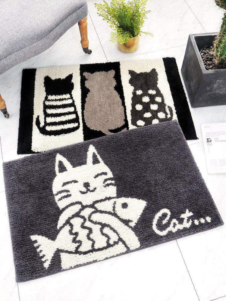 時尚創意地墊234 廚房浴室衛生間臥室床邊門廳 吸水長條防滑地毯(45*65cm)