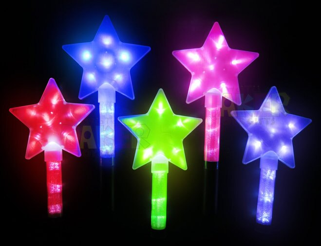LED 五角星 閃亮棒 螢光棒 迪士尼 魔法棒 仙女棒 (星星) 電子 閃光棒 演唱會 後援會【塔克】