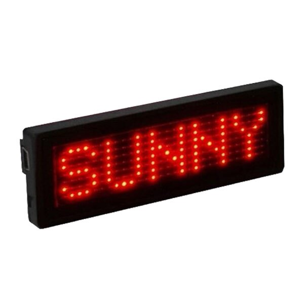 LED名片型字幕機 現貨 當天出貨 LED跑馬燈 名片充電型 名片牌 廣告招牌燈 攜帶式 字幕機 USB傳輸 胸牌【coni shop】