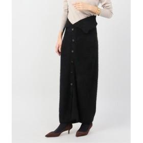 VERMEIL par iena フォックス混 スカート◆ ブラック 36