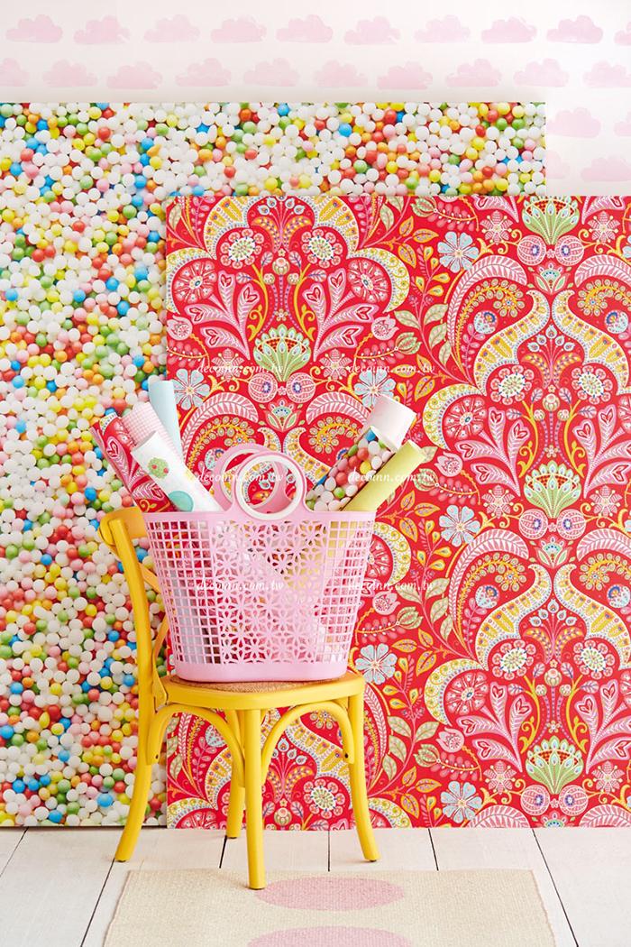 F11C-3540/00~03 荷蘭期貨壁紙 可愛蕾絲花朵圖騰 女孩房 繽紛 兒童(3色)