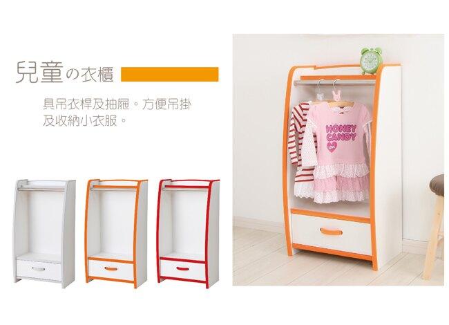 日本進口/衣櫃/收納 TZUMii 小木偶兒童衣物收納架-白