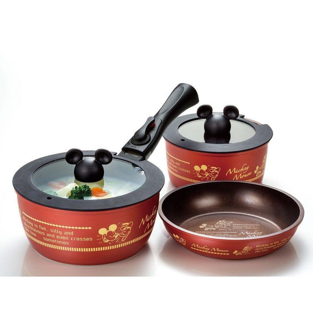 【預購】日本進口超可愛-米奇造型鍋具組 超級特價 6品【星野日本玩具】