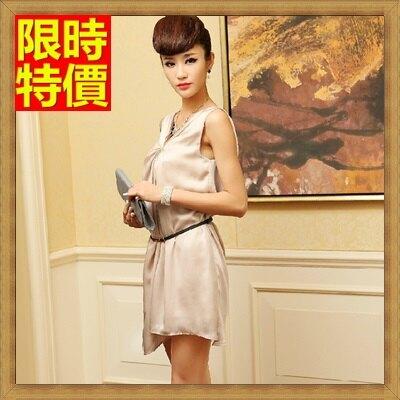 無袖洋裝女裙子-輕盈飄逸不對稱優雅連身裙67m42【獨家進口】【米蘭精品】
