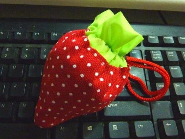 【超取399免運】加厚折疊草莓環保購物袋 折疊式環保袋