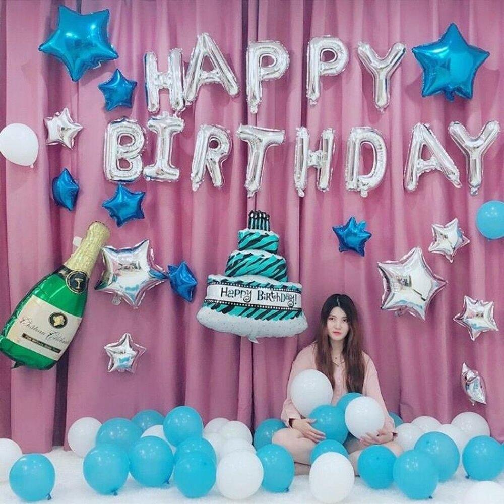 生日氣球成人布置套餐派對裝飾鋁膜氣球浪漫情侶宴會活動裝飾氣球 新春鉅惠