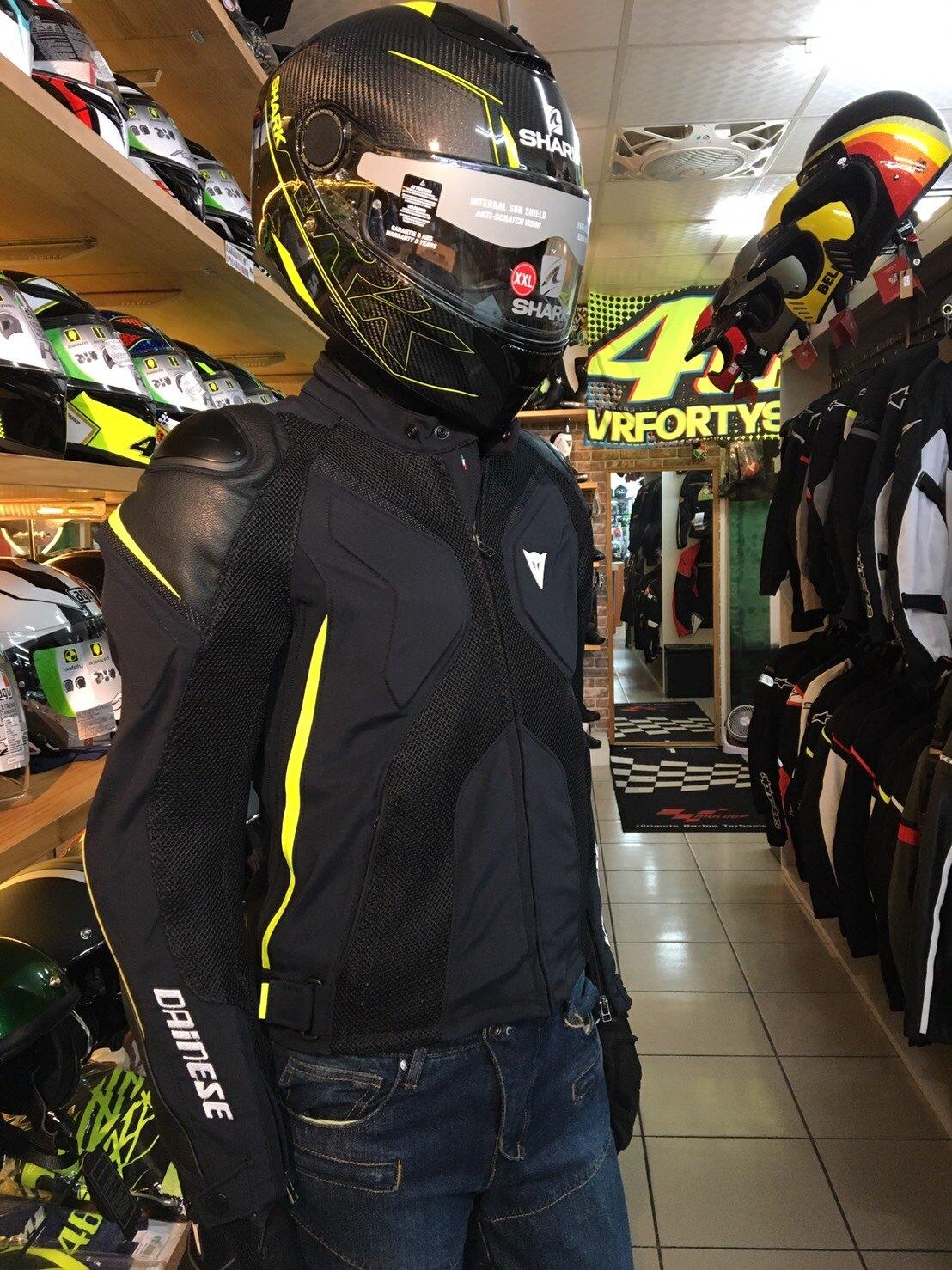 ~任我行騎士部品~ Dainese Super Rider D-Dry 黑黃 防摔衣 皮布混合 防水 可拆內裏 龜背