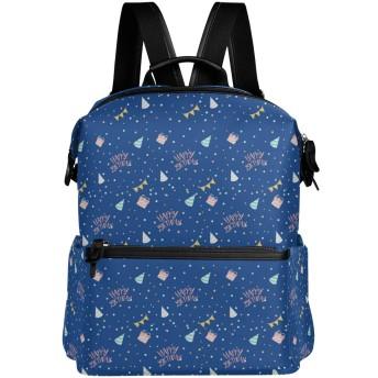 ドット 誕生日 リュック 学生用 デイパック レディース 大容量 バックパック 男女兼用 機能性 大容量 防水性 デザイン 旅行 ブックバッグ ファション