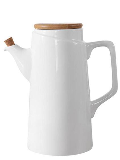 北歐風陶瓷防掛油漏油壺廚房家用大號容量醬油醋調料瓶花生油