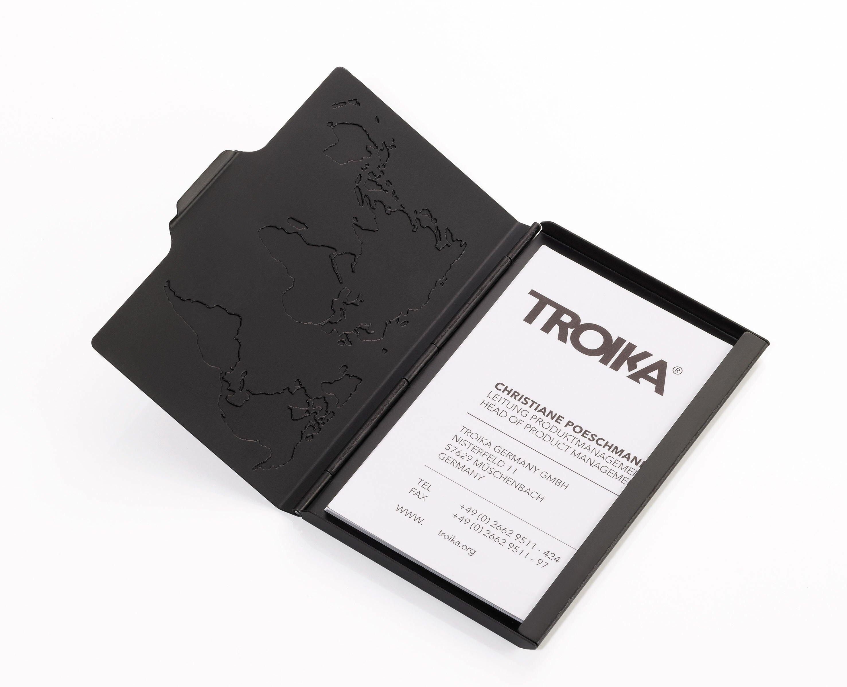 TROIKA 世界地圖輕巧名片夾(黑色)