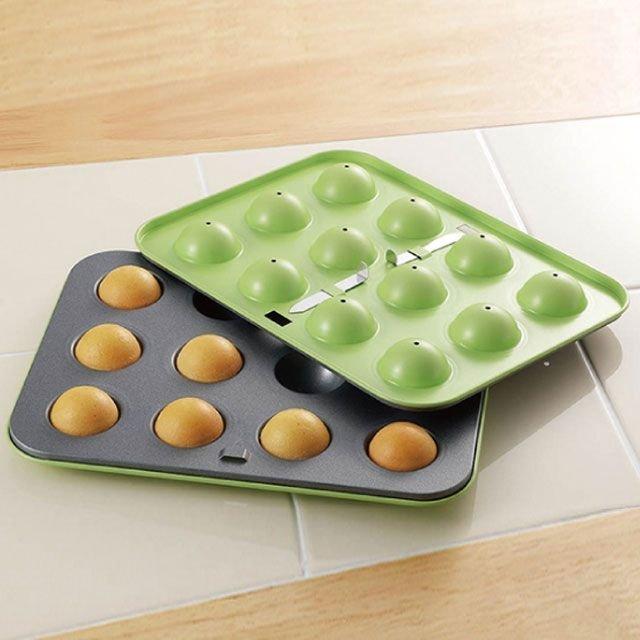 日本【Cake Land】蛋糕棒棒糖模具組12P