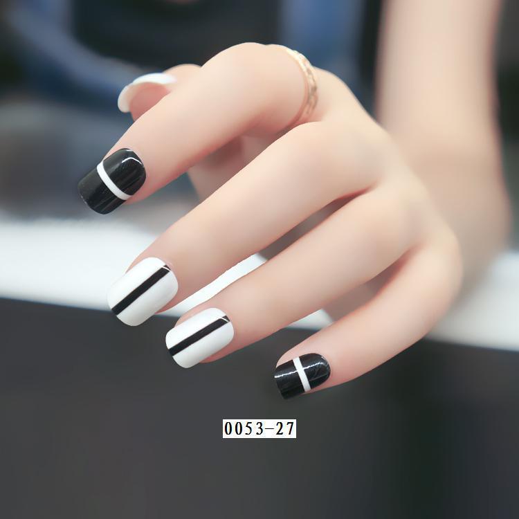 現貨~ NJ026 美甲成品 熱銷 假指甲貼片24片 時尚套裝印花