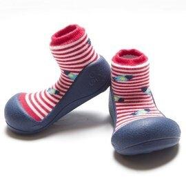 韓國【Attipas】快樂腳襪型學步鞋-藍底飛碟【淘氣寶寶】