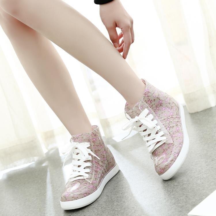夏季雨鞋女學生中筒平底雨靴成人防滑防水鞋韓國可愛水靴膠鞋套鞋.