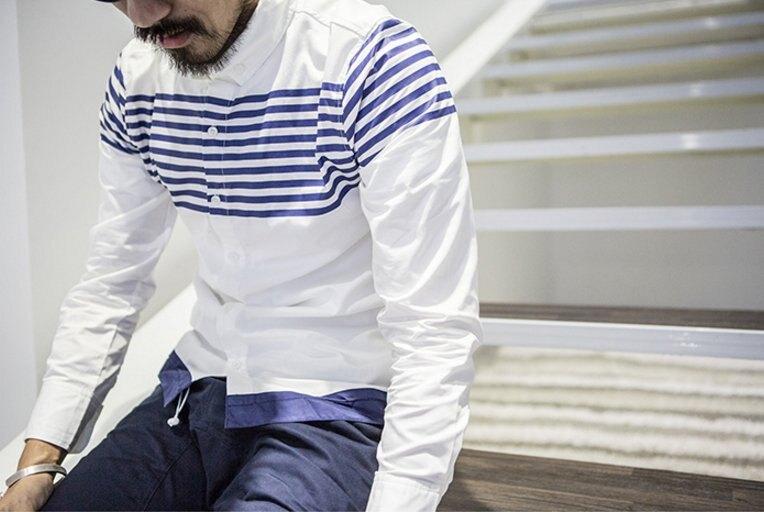 【JP.美日韓】日系 日本 條紋 襯衫 牛津 白 AES OVK MJ4 堡