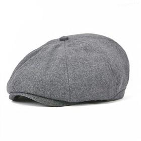 ワール ハンチング 8枚接ぎ キャスケット 帽子 メンズ レディース 秋冬 BDMZ111 (グレー)
