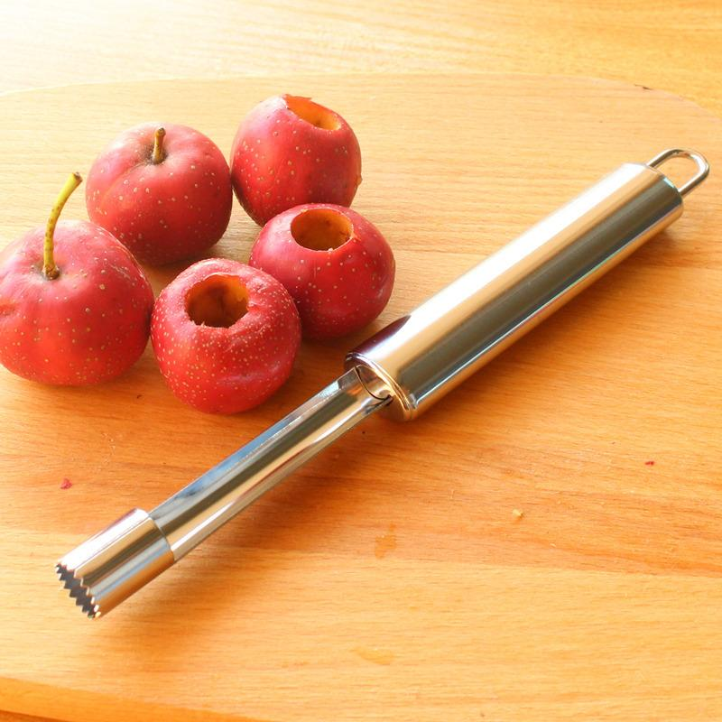 山楂去核器不銹鋼紅果沙果去籽抽芯器水果山楂取芯小工具家用1入