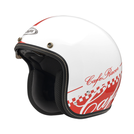 ZEUS 瑞獅 ZS-388A AT13 3/4罩復古安全帽 白紅
