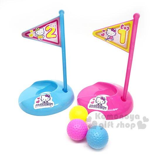 〔小禮堂〕Hello Kitty 高爾夫球玩具組《粉.旗子》適合3歲以上孩童.沙灘玩具