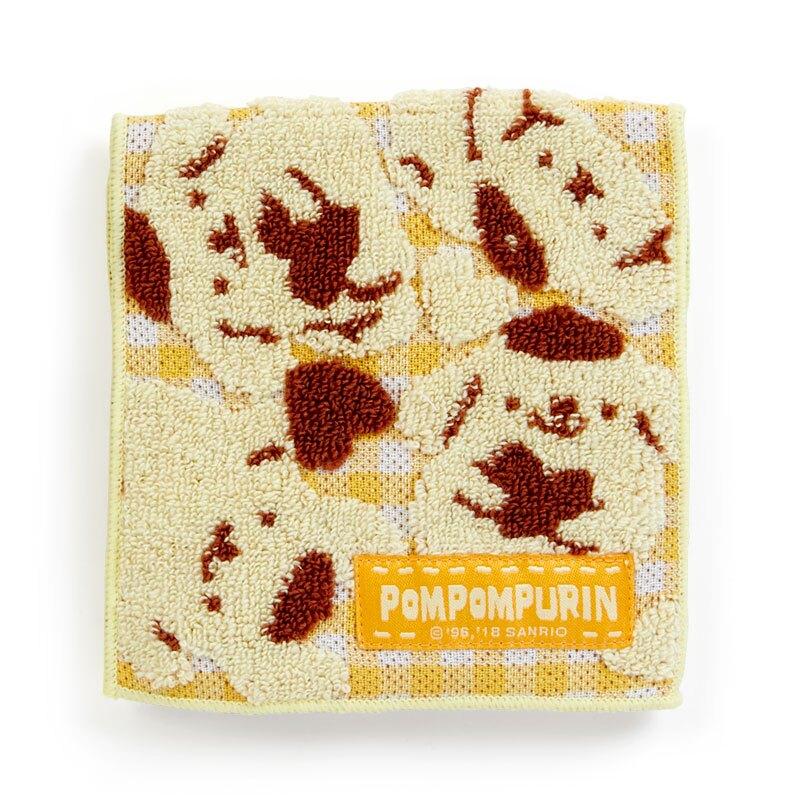 18042500014 多功能布織扁平包-PN格紋黃ACK 三麗鷗 布丁狗 小物收納包 隨身包 真愛日本