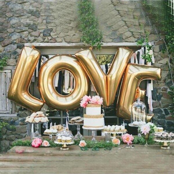 英文 A-Z (40吋) 鋁箔氣球 金色 字母空飄 生日派對 DIY組合 任意搭配 姓名氣球【塔克】