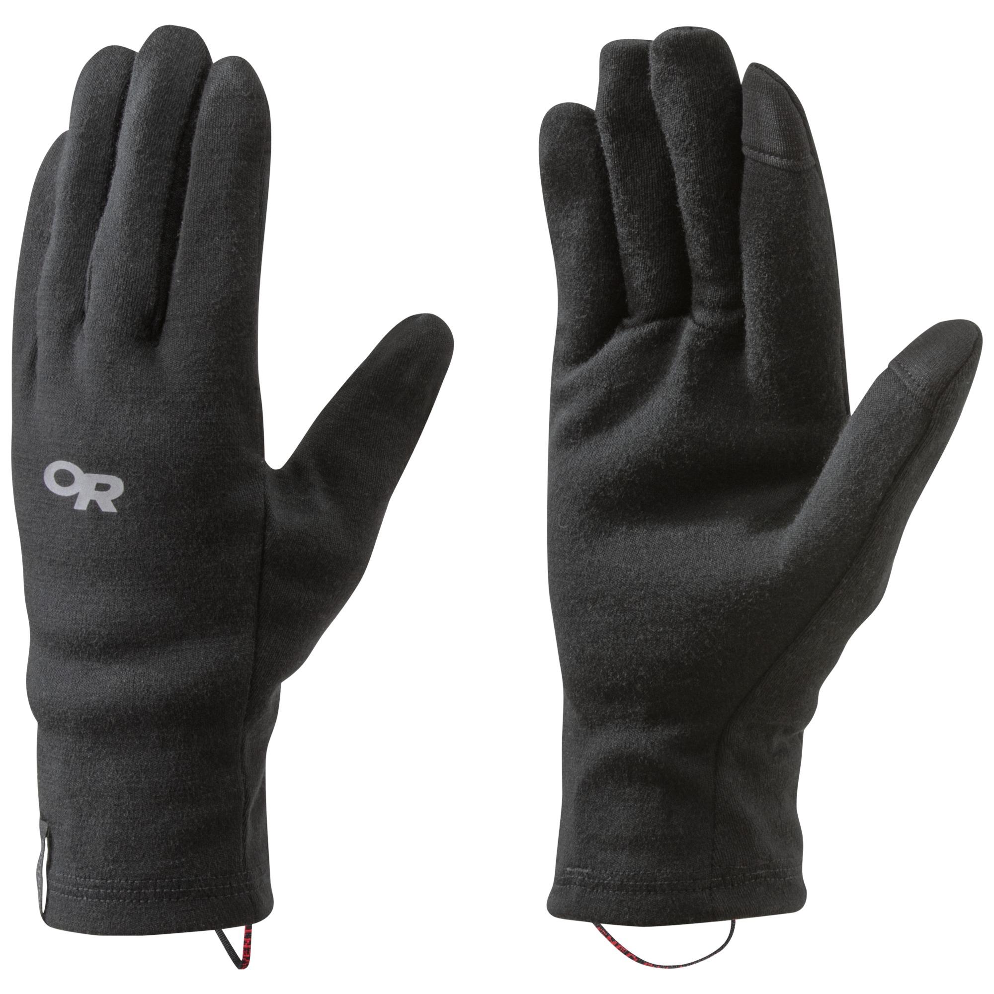 【Outdoor Research】美麗諾羊毛保暖手套 可觸控 WOOLLY SENSOR LINERS 黑色  #253957 旅形