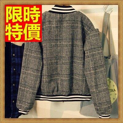夾克外套羊羔毛外套-字母貼布徽章棒球服女外套65ad18【獨家進口】【米蘭精品】