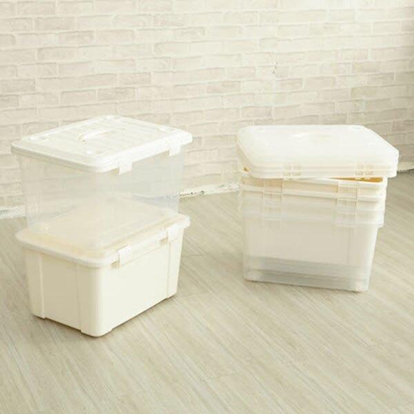 BO雜貨【YV9070】ikloo~萬用滑輪收納整理箱45L(3入)附輪 收納箱 整理箱 玩具收納 衣物收納箱 換季收納