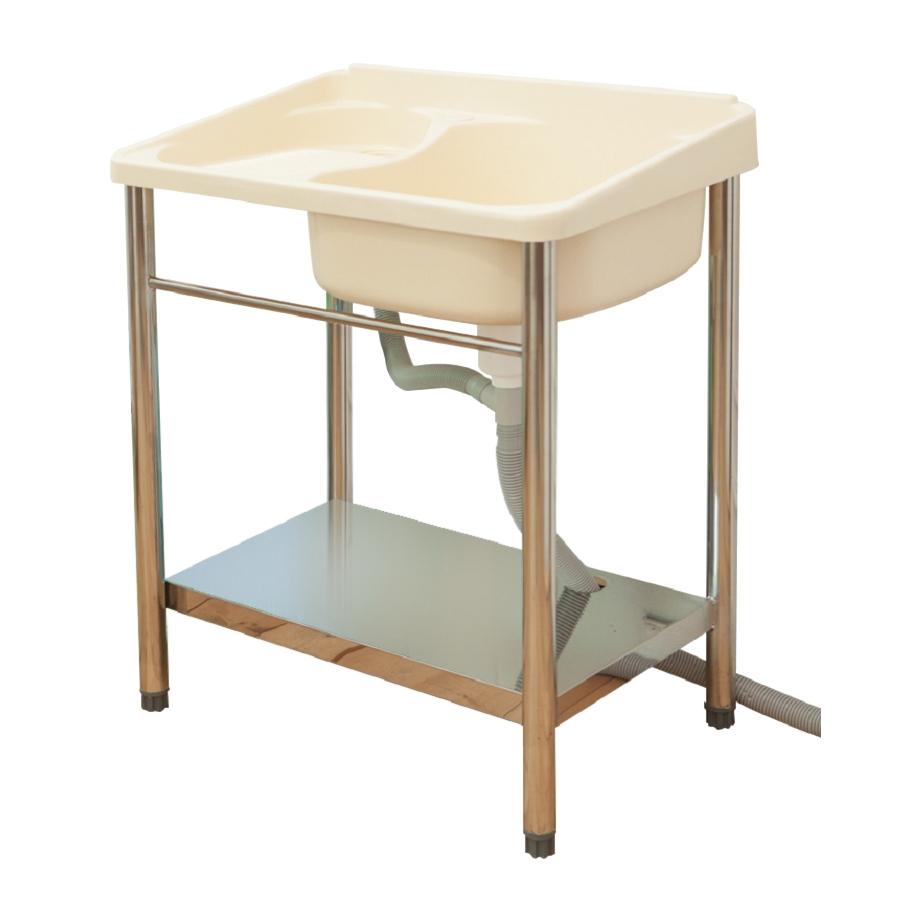 免組裝不鏽鋼洗衣槽(ABS塑鋼)限時$2040/流理台/洗衣槽/洗手台/塑鋼/水槽/洗衣板【JL精品工坊】