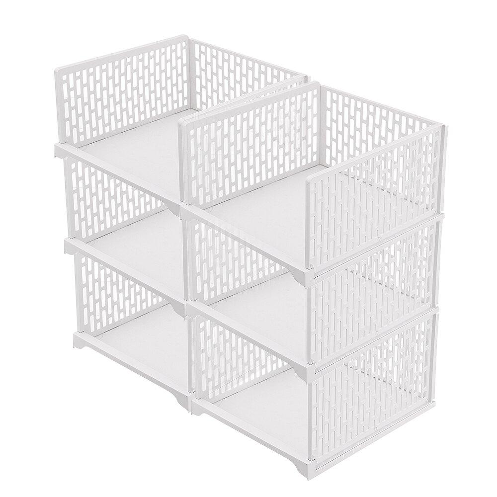 Mr.box【007020-01】日式抽取式可疊衣櫃收納架(特大款高 8件組)-北歐白