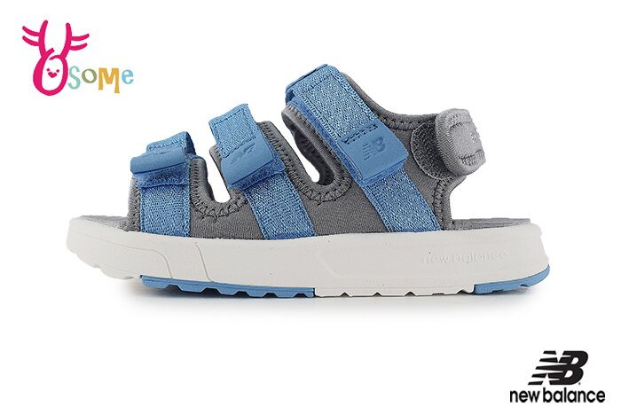 New Balance 中童 涼鞋 時尚潮流穿搭 運動涼鞋 爆款韓版 韓國製 O8557#藍色 奧森