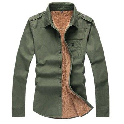 ☆長袖襯衫 加絨上衣-粗獷性格嚴選騎士風男襯衣3色72am20【獨家進口】【米蘭精品】