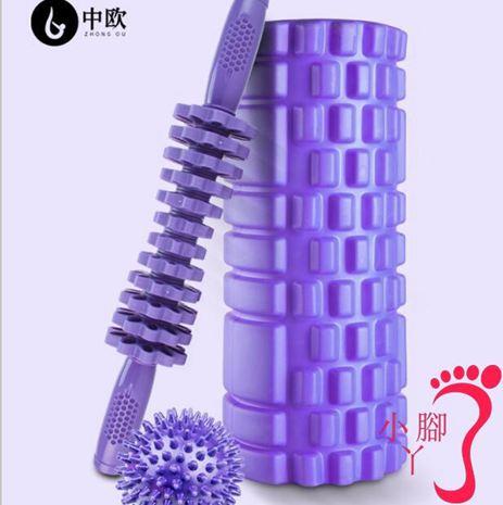 瑜伽柱 泡沫軸肌肉放松按摩器材部keep瑜伽柱狼牙棒筋膜健身瑯琊滾軸