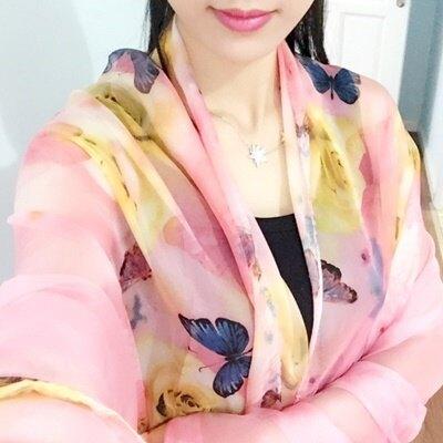 絲巾雪紡披肩-韓版自然蜜蜂印花女配件3色73hw41【獨家進口】【米蘭精品】