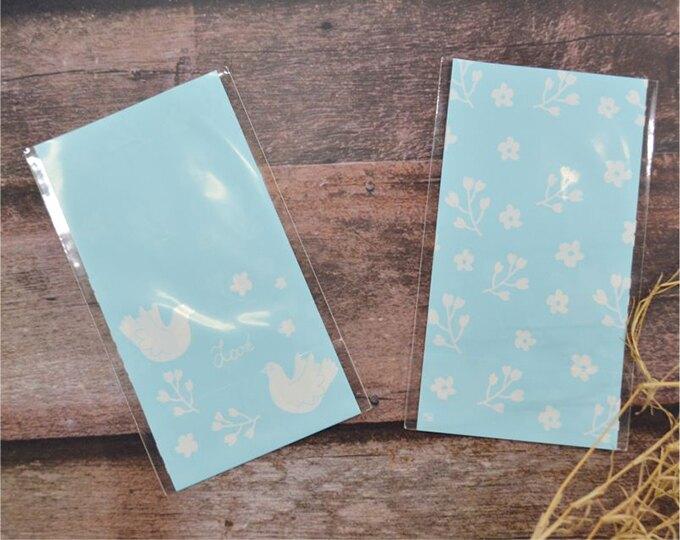 D0915-04 OPP立體糖果包裝袋-雙鴿-雙面不透明-粉藍