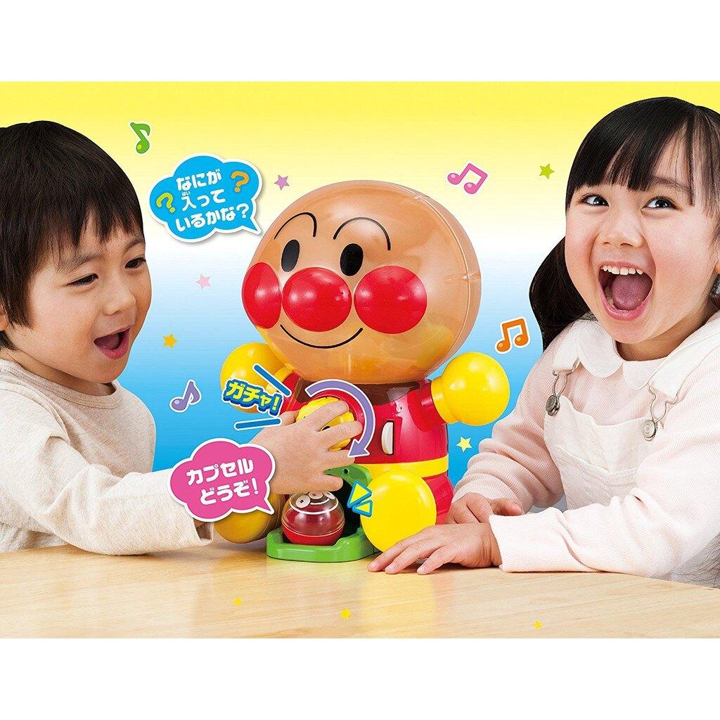 【預購】日本正版 麵包超人 轉蛋機 扭蛋機 聲光 人型扭蛋機 Anpanman 音樂【星野日本玩具】