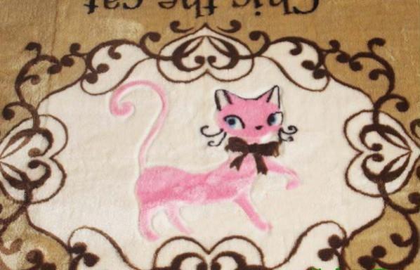 外銷日本等級 出口日本 185*185 CM 可愛貓咪卡通地毯/ 兒童遊戲毯/ 客廳地毯/ 爬行墊/ 遊戲墊