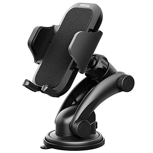 【美國代購】Mpow儀表板車載手機座 一鍵式設計和可清洗強力粘性膠墊 適用 iPhon 谷歌 華為 黑
