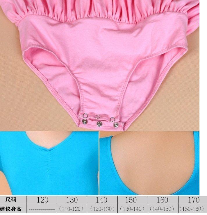 舞蒂娜短袖兒童芭蕾舞蹈練功服女童體操服形體服連體服少兒考試