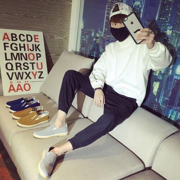 【JP.美日韓】韓國 簡約 懶人 低筒 方便  拖鞋  復古 豆豆鞋 BV