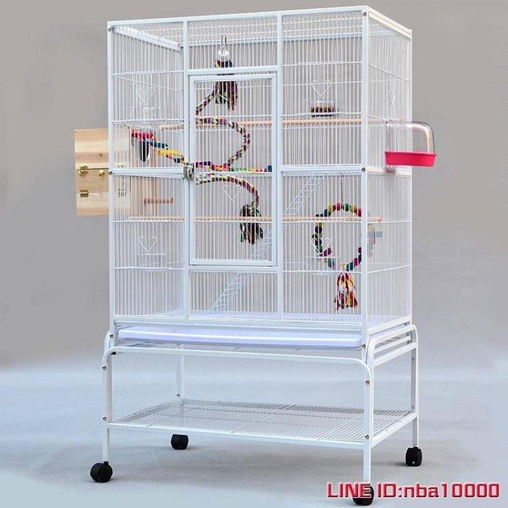 鳥籠粵迪 新款方型鐵藝群鳥籠 虎皮牡丹鸚鵡籠鳥籠灰鸚鵡繁殖籠A421 JDCY潮流站