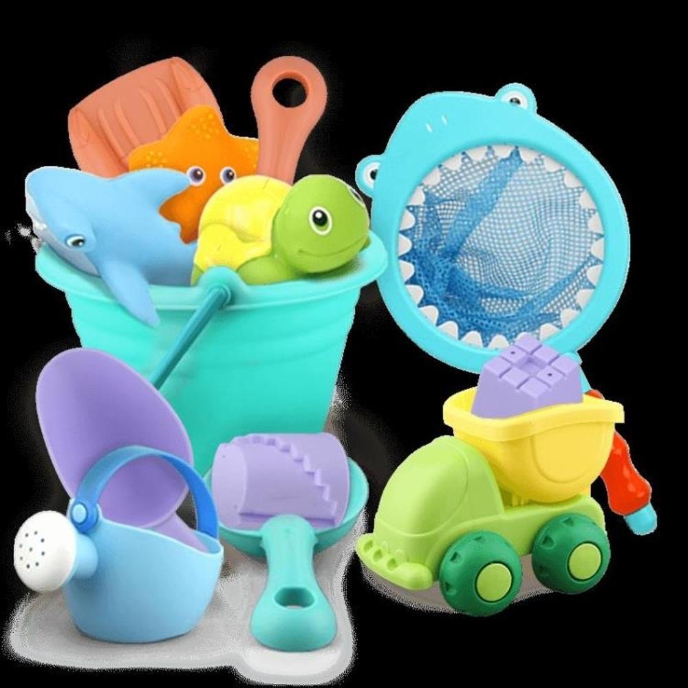 貝恩施兒童沙灘玩具套裝玩沙子挖鏟子工具決明子寶寶戲水洗澡玩具  全館八五折