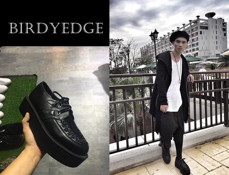 BIRDYEDGE 麂皮 雷射 亮皮 皮革 多款設計5CM 歐美高端 街頭 厚底鞋 鬆糕  鞋/增高鞋/厚底男女